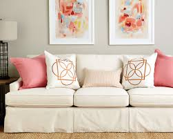 Orange Pillows For Sofa by Guide To Choosing Throw Pillows How To Decorate