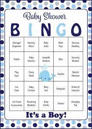 baby shower bingo whale baby shower for boy baby bingo celebrate
