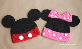 mickey minnie mouse crochet hat pattern repeat crafter