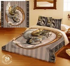 steampunk dragon duvet cover ben linen set artwork by artist anne
