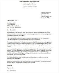ideas of sample of cover letter for scholarship on cover letter