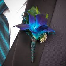 boutonniere prom blue dendrobium orchid boutonniere for prom my designs