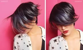how tohi lite shirt pixie hair short black hair with silver highlights pixie