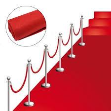 Red Carpet Rug Wedding Aisle Floor Runner Carpet Polyester Large Red Carpet Rug