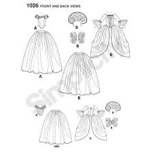 pattern for disney cinderella and fairy godmother misses costumes