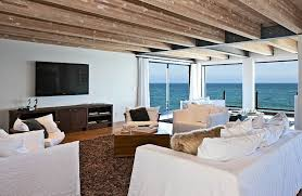 seaside home interiors interior beautiful view of the from matthew perrys malibu