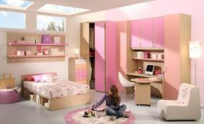 house design girls with brown study table pink cabinet plus white