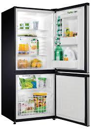 Apartment Size Appliances Amazon Com 9 2 Cu Ft Bottom Mount Freezer Black With Stainless
