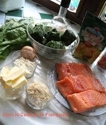 comment cuisiner du saumon surgelé crumble de saumon aux epinards surgelés dans la cuisine de françoise