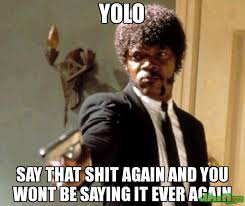 Yolo Meme - yolo say that shit again and you wont be saying it ever again meme