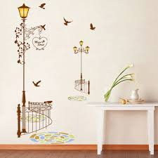bedroom decals peugen net aliexpresscom buy popular ancient lamp birds wall sticker wall