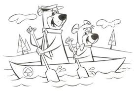 coloring pages of yogi bear yogi bear and boo boo coloring pages plussy info