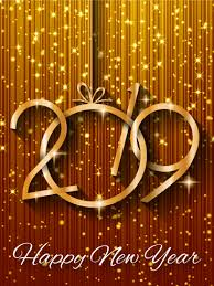 happy new year greetings cards shiny gold happy new year card 2019 birthday greeting cards by davia
