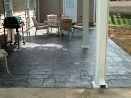 Front Porch Patio Ideas Decorating Stamped Concrete Patio Designs And Colors Brick Front