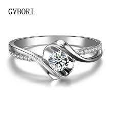 cheap real engagement rings for 0 13ct wedding ring gvbori 18k white real gold