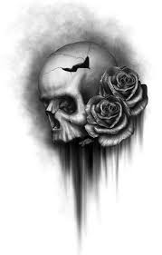 skull and roses 2 by rodgerpister inked pinterest skull
