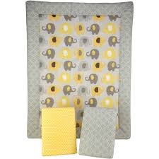 Porta Crib Bedding Set by Little Bedding By Nojo Elephant Time 3 Piece Portable Crib Bedding