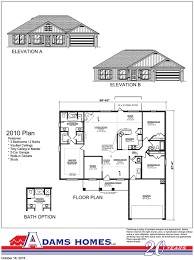 Floor Plan Of A House With Dimensions Cedar Crest Adams Homes
