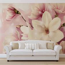 Magnolia Wallpaper Magnolia Pink Photo Wallpaper Mural 3505wm Consalnet Partner