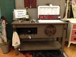 rustic cooler table buffet sideboard serving table storage patio