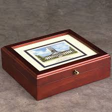 personalized box personalized college desk box commeorative box levenger
