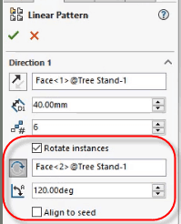 solidworks linear pattern rotate instances in a solidworks 2018 linear pattern il tuttofare