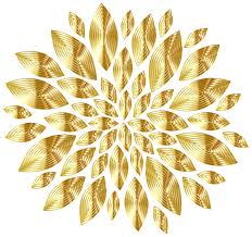 gold flowers euphoric fragrance clipart