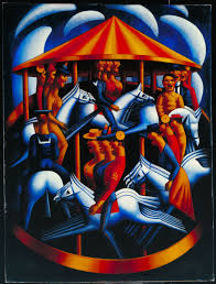 merry go gertler painting