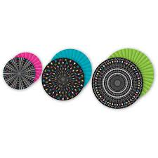 hanging paper fans chalkboard brights hanging paper fans tcr77104 created