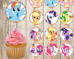 my pony cupcake toppers pony topper etsy