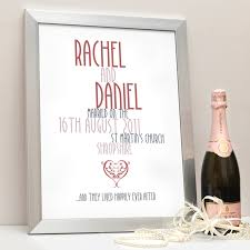 personalised wedding gifts personalised wedding gifts my word