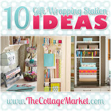 wrapping paper station 10 gift wrapping station ideas the cottage market