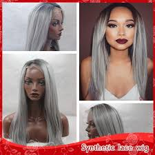 how to bring out gray in hair dark roots ombre gray hair glueless brazilian lace front wigs