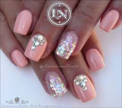 luminous nails peachy marshmallow acrylic u0026 gel nails nail