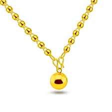 lady gold necklace images New fashion women gold ball pendant high quality gold necklace for jpg