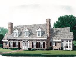 House Plan 86227 Cape Cod Colonial Cottage Country Farmhouse