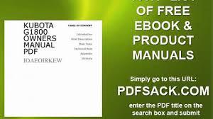 kubota g1800 owners manual pdf video dailymotion