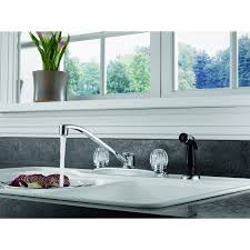 peerless kitchen faucet peerless two handle kitchen faucet with side sprayer chrome