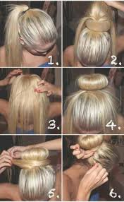 hairstyles with a hair donut sock bun hacks tips tricks how to wear hair up in donut