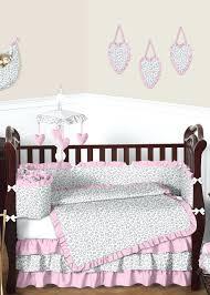 Cheetah Print Crib Bedding Pink And Gray Cheetah Crib Bedding Bedding Designs