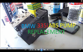 e90 bmw 335i abs pump replacement diy and calibration youtube