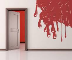 vinyl wall decal sticker slime in wall corner os mb271