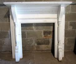 antique english oak barley twist adjustable fireplace fender