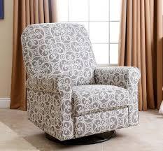 abbyson living perth fabric nursery swivel glider recliner chair