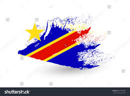 Dr Congo Flag Royalty Free Hand Drawn Style Flag Of The Democratic U2026 387797680