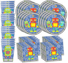 birthday party supplies robot birthday party supplies set plates napkins cups
