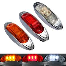 led side marker lights 10pcs lot 12v trailer truck caravan amber red white led side