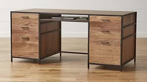 Repurposed Secretary Desk Stylish Sophisticated U0026 Modern Desks Crate And Barrel