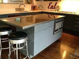 stainless steel kitchen island cabinet with storage top