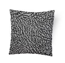 elephant print stuffed pillow u2013 sneakprints